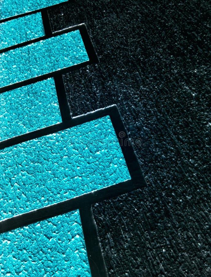 Декоративная синь представляет фасад стоковое изображение rf
