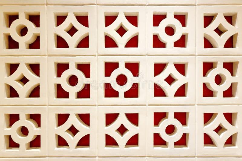 Декоративная стена экрана бетонной плиты стоковое фото rf