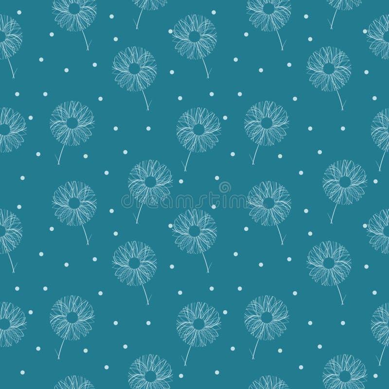 Декоративная, флористическая абстракция сделала в безшовном векторе иллюстрация штока
