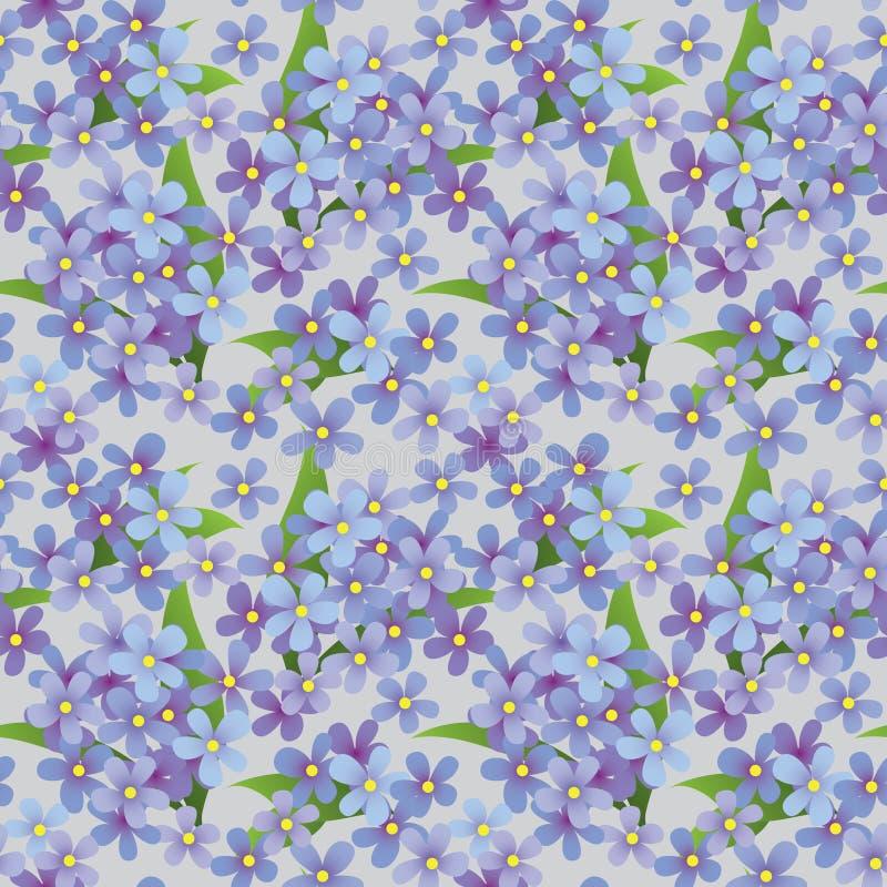 декоративная флористическая картина безшовная стоковое фото rf