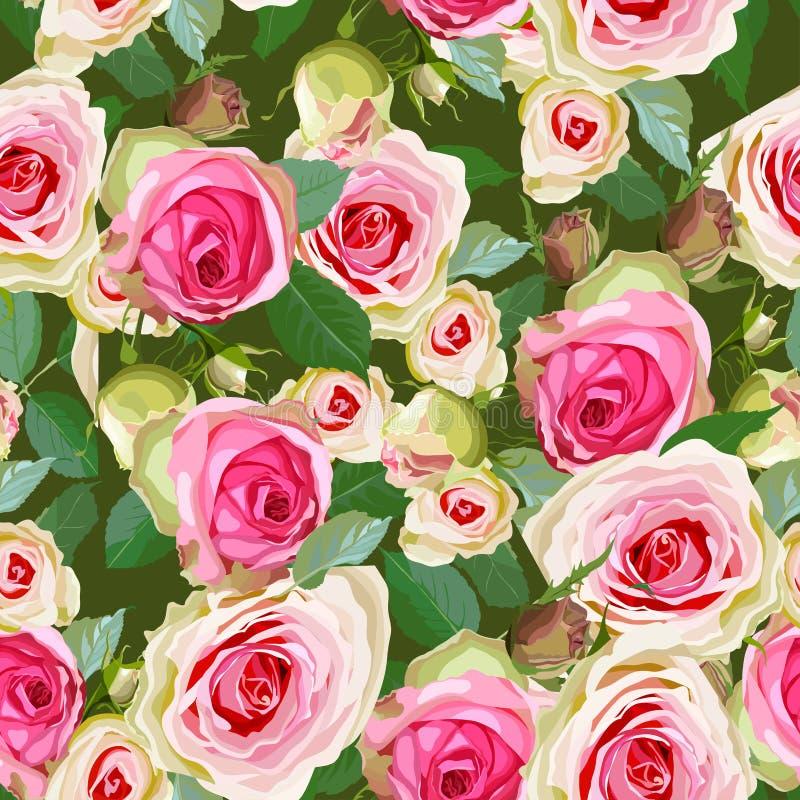 Декоративная флористическая безшовная картина иллюстрация вектора