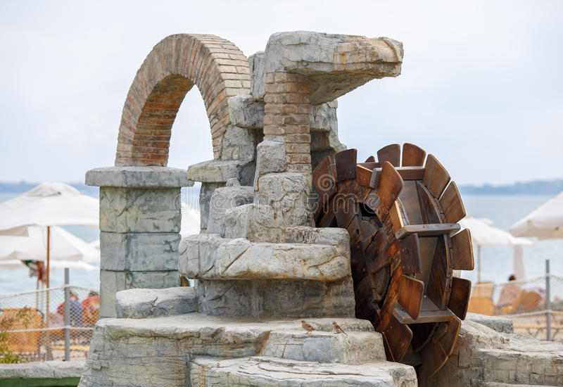 Декоративное винтажное watermill стоковые фото