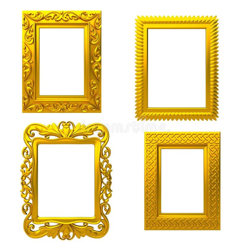 декоративное золото рамки бесплатная иллюстрация