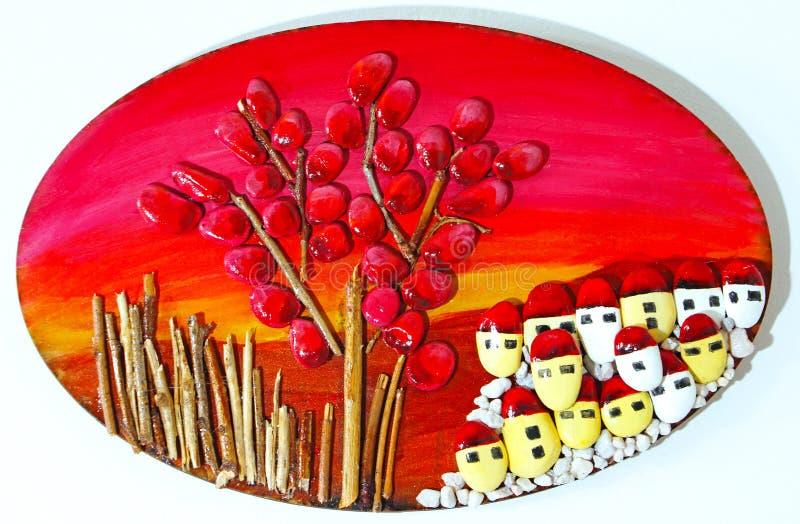 Декоративное изображение сделанное из камешков стоковая фотография rf