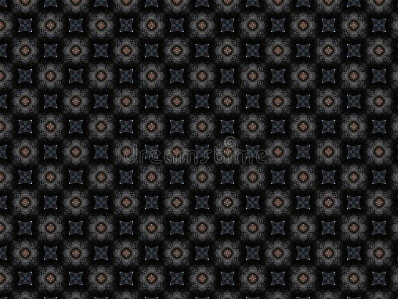 Декоративное кожаное покрывало с деталями сделанных по образцу цветов fr стоковая фотография rf