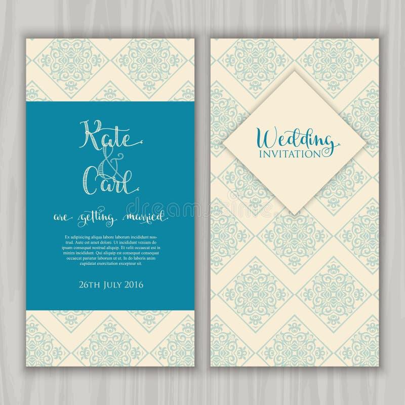 Декоративное приглашение свадьбы бесплатная иллюстрация
