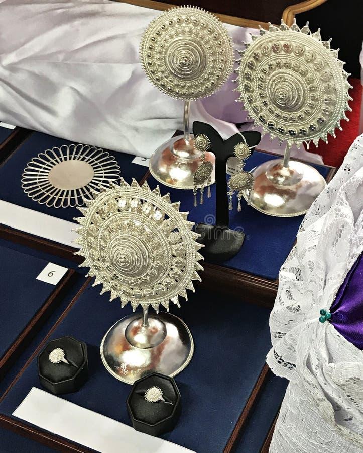 Декоративное ремесленничество сделанное из серебра стоковая фотография rf