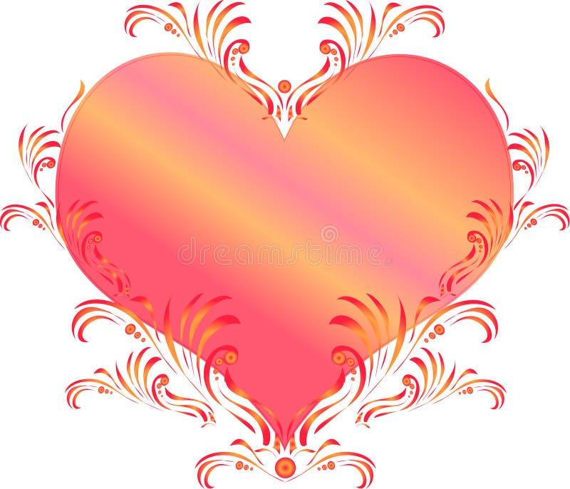 декоративное сердце иллюстрация вектора