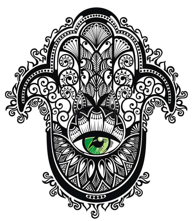 Декоративное hamsa бесплатная иллюстрация
