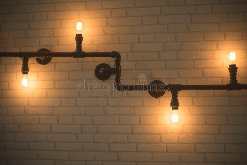 Декоративные античные электрические лампочки стиля стоковое изображение rf
