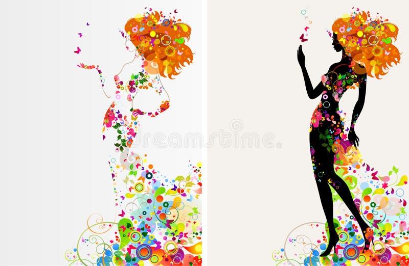 декоративные девушки иллюстрация штока