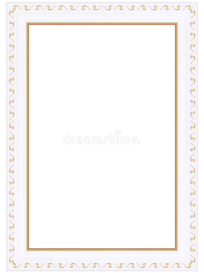 Декоративные золотые рамки иллюстрация штока