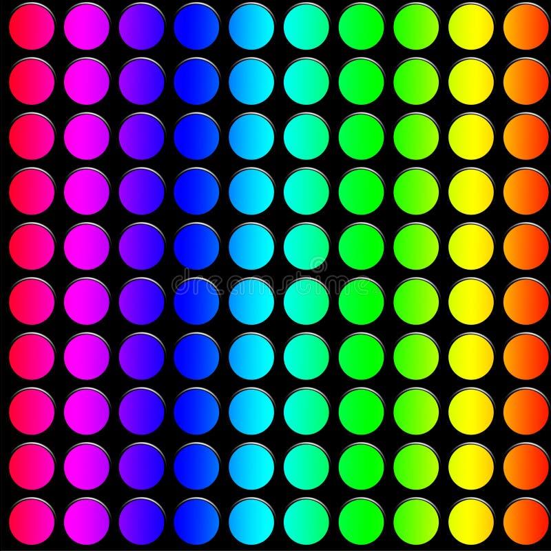 Декоративные неоновые света иллюстрация штока