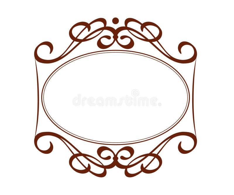 Декоративные ретро рамки также вектор иллюстрации притяжки corel brougham иллюстрация вектора