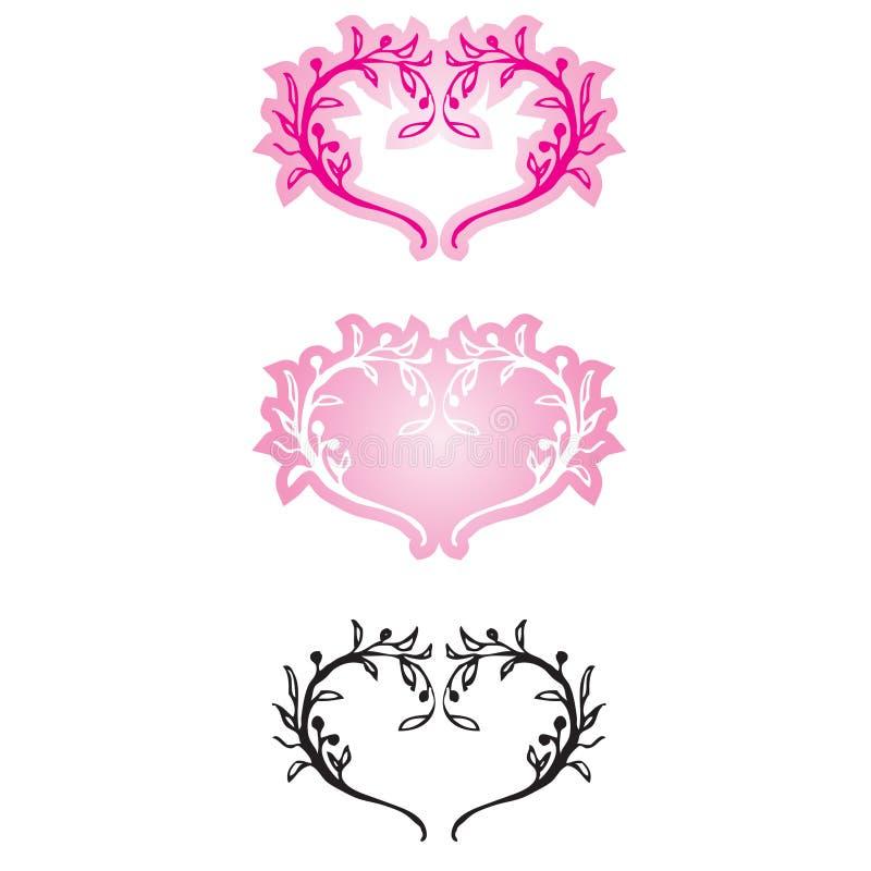 декоративные сердца иллюстрация вектора