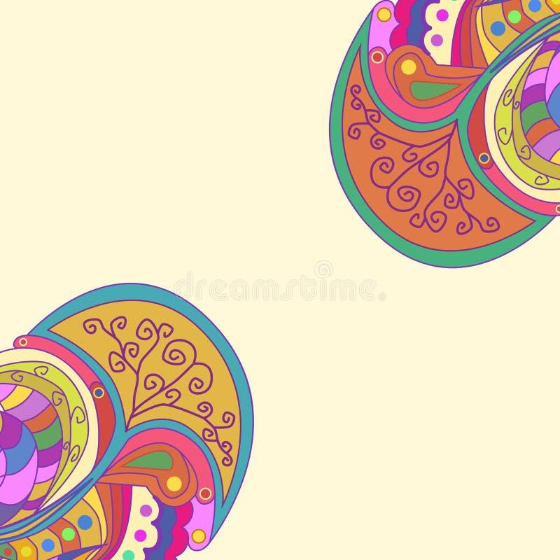 Декоративные углы элемента Абстрактная карточка приглашения Дизайн волны шаблона для карточки бесплатная иллюстрация