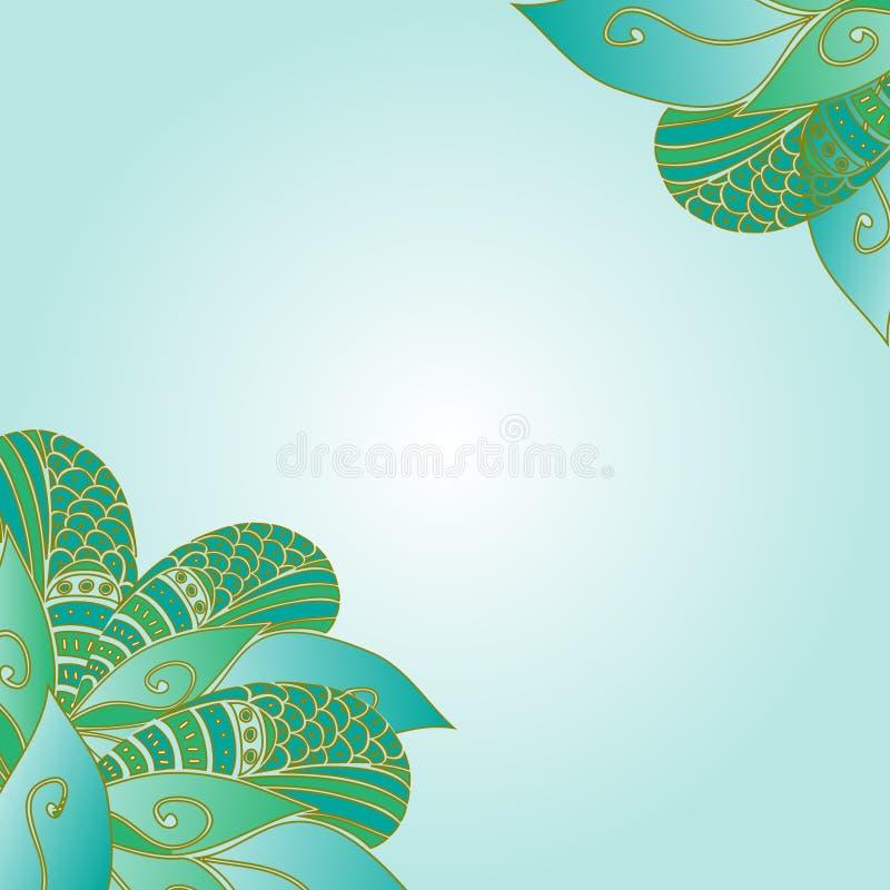Декоративные углы элемента Нарисованная рукой абстрактная карточка приглашения бесплатная иллюстрация