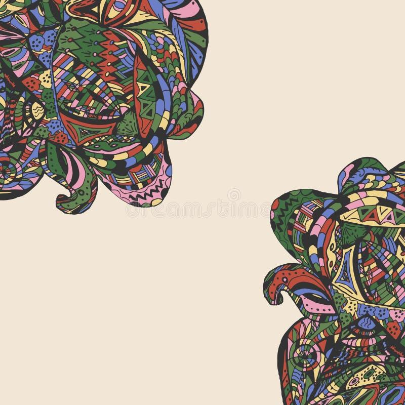 Декоративные углы элемента для Scrapbook, карточки приглашения иллюстрация штока
