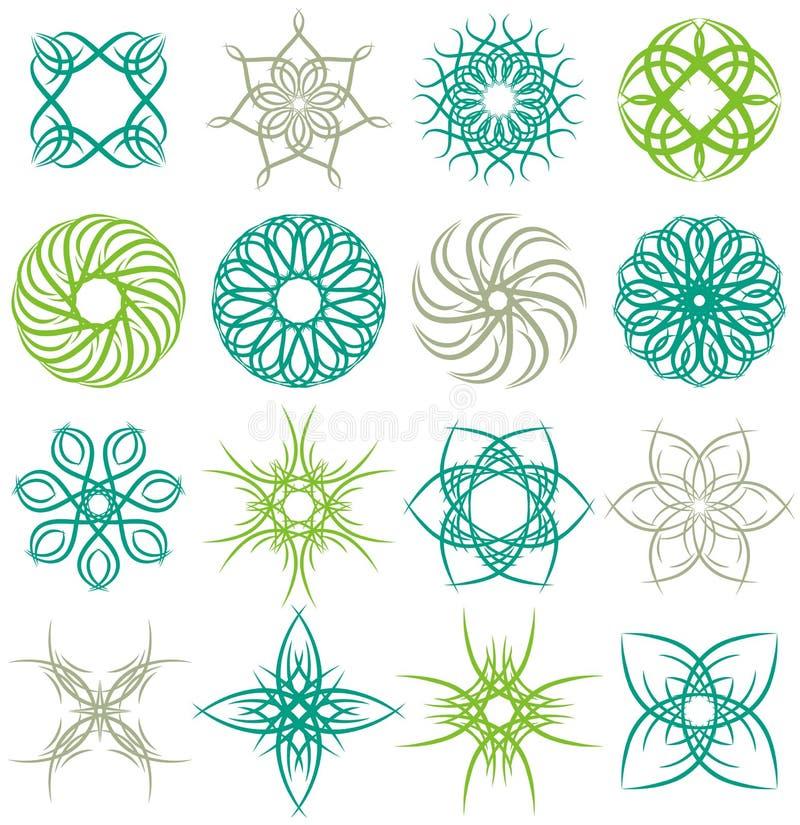 декоративные элементы много иллюстрация вектора