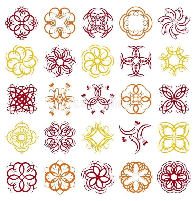 декоративные элементы много vector иллюстрация вектора