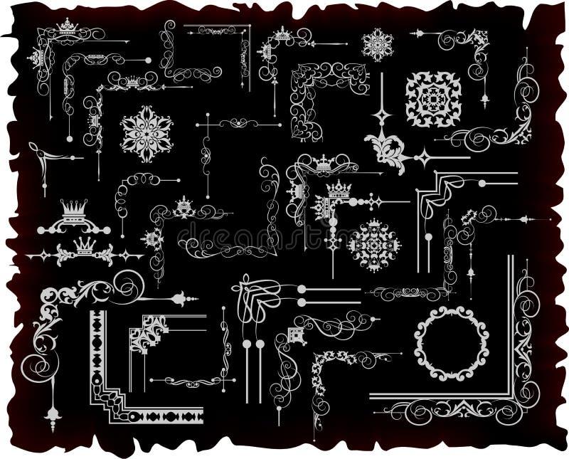 Декоративные элементы. Дизайн угла. иллюстрация вектора