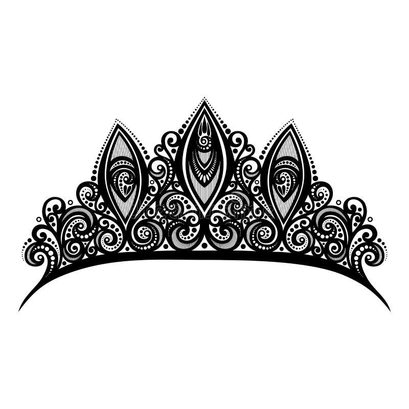 Декоративный богато украшенный Diadem иллюстрация вектора