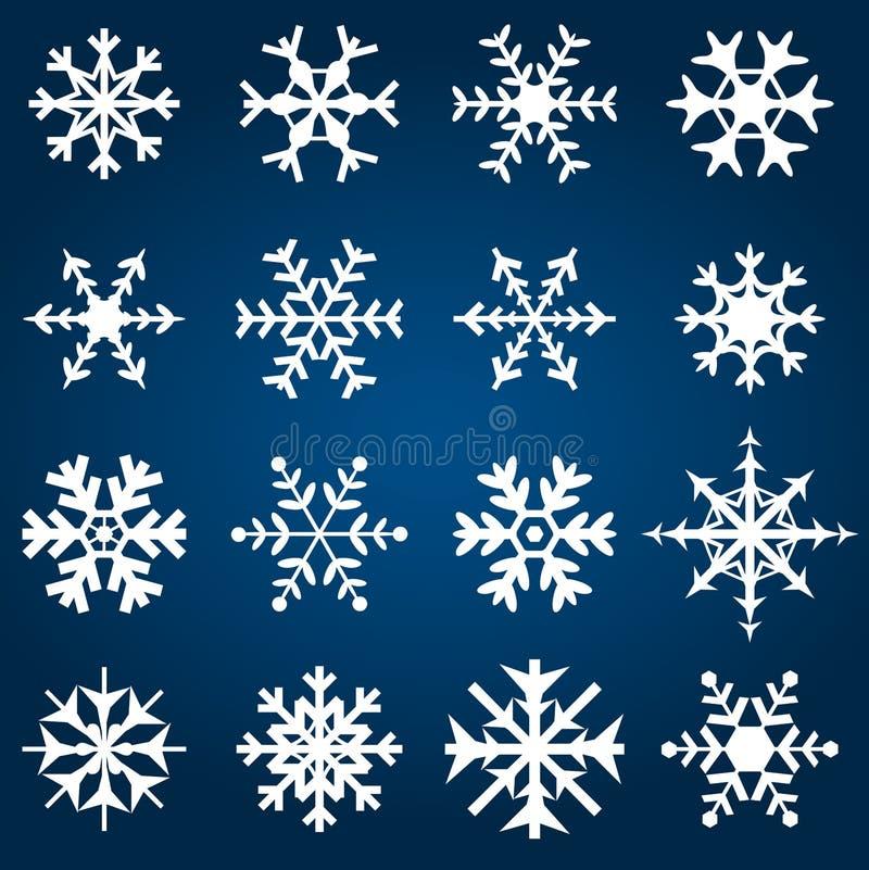 декоративный вектор снежинок иллюстрации иллюстрация вектора