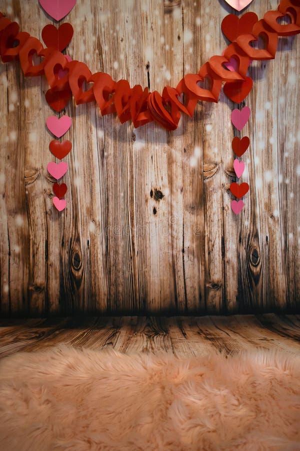 Декоративный деревянный фон стоковые изображения rf