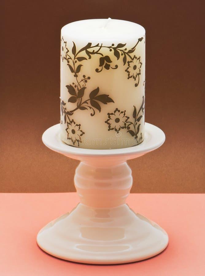 Декоративный керамический подсвечник стоковая фотография
