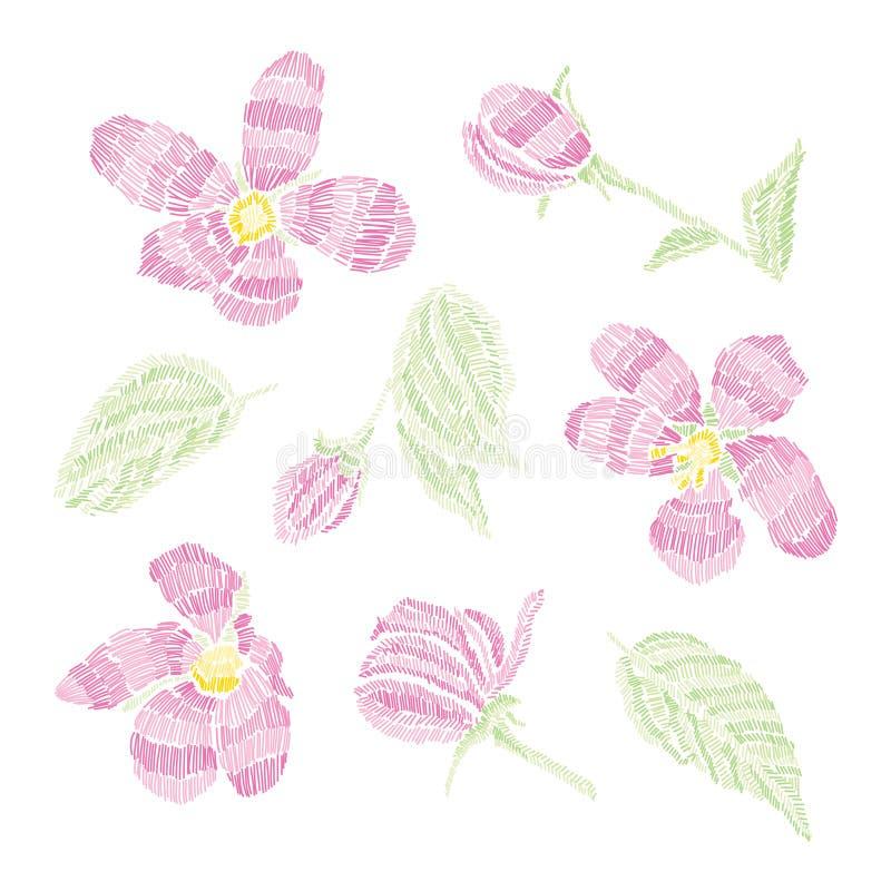 Декоративный комплект вишневого цвета иллюстрация штока