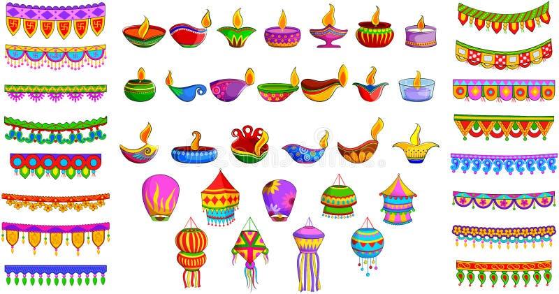 Декоративный объект для индийского фестиваля иллюстрация штока
