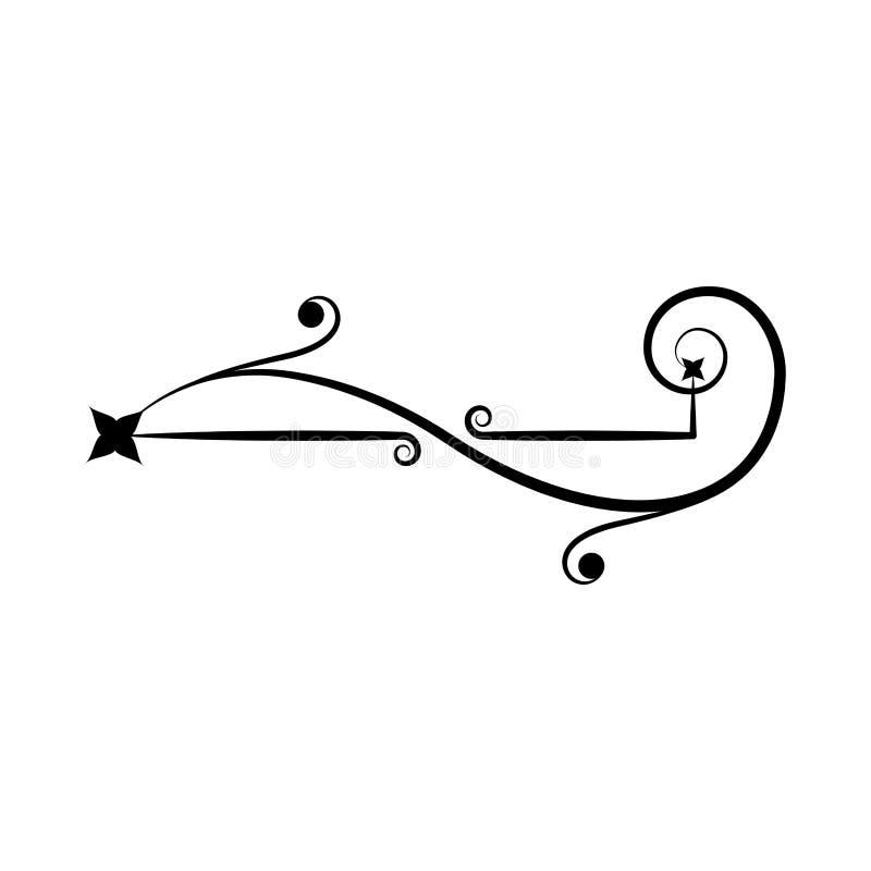 Декоративный орнамент границы свирли - вектор бесплатная иллюстрация