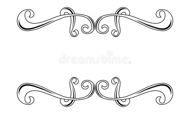 Декоративный орнамент границы свирли бесплатная иллюстрация