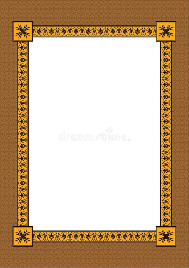 декоративный орнамент рамки иллюстрация вектора