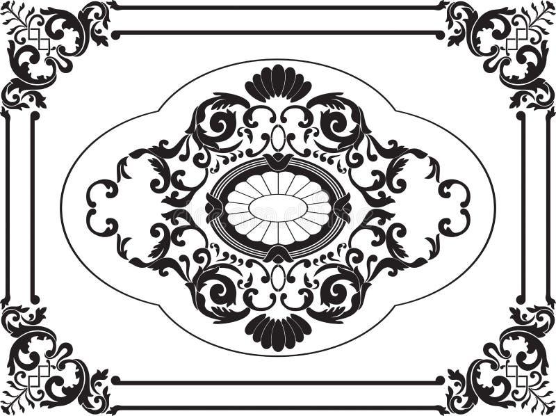 Декоративный орнамент 19 столетий стоковая фотография rf