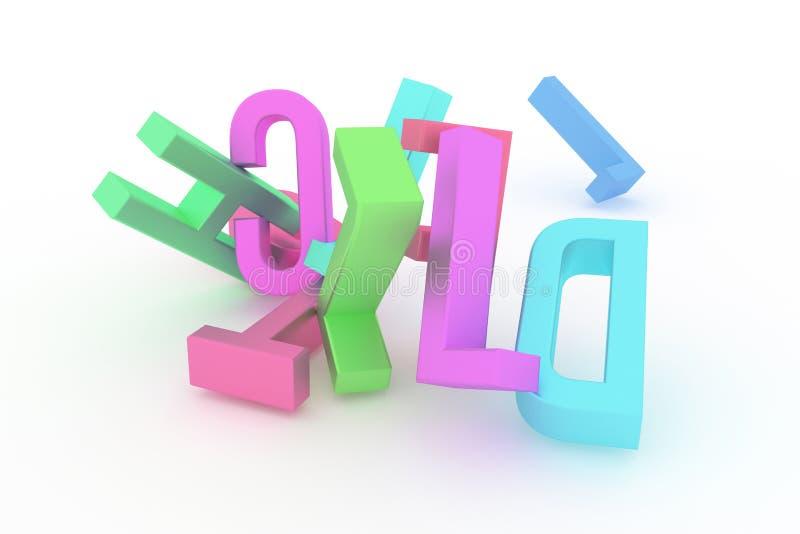 Декоративный, оформление CGI иллюстраций, алфавитный знак представляет письмо ABC, для предпосылки текстуры дизайна бесплатная иллюстрация