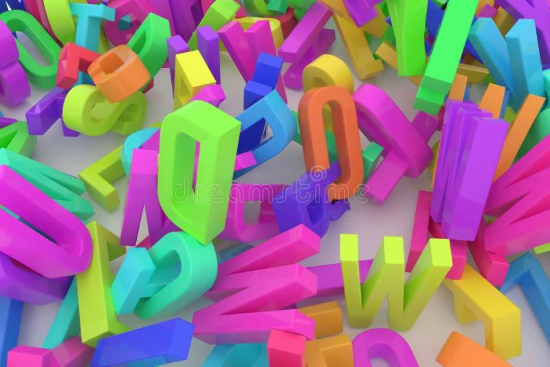Декоративный, оформление CGI иллюстраций, алфавит, письмо AB бесплатная иллюстрация