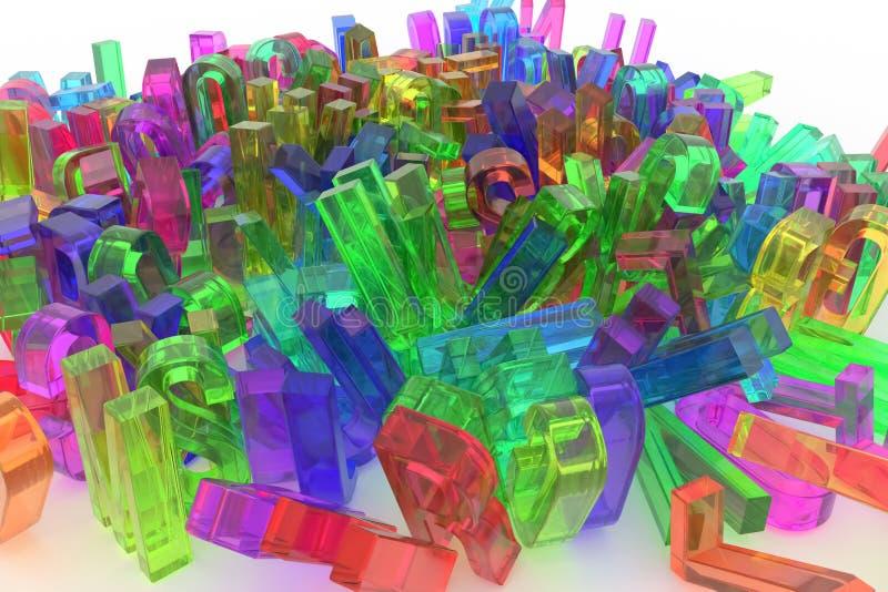Декоративный, оформление CGI иллюстраций, алфавит, письмо AB иллюстрация вектора