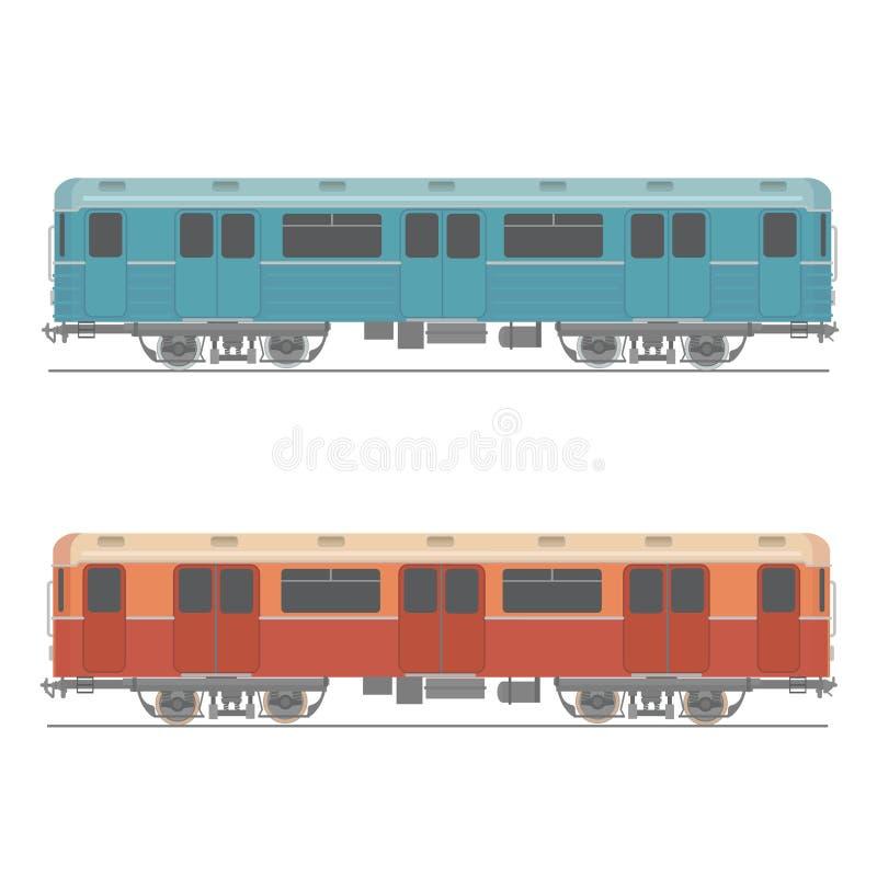 Декоративный подземный быстрый дизайн вектора поезда бесплатная иллюстрация
