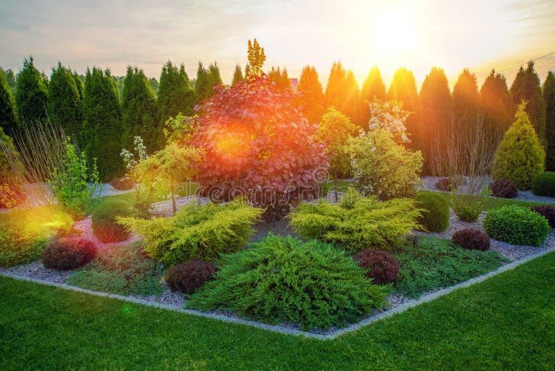 Декоративный сад Rockery стоковые фото