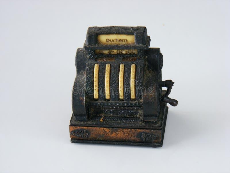 Декоративный старый кассовый аппарат металла стоковые изображения