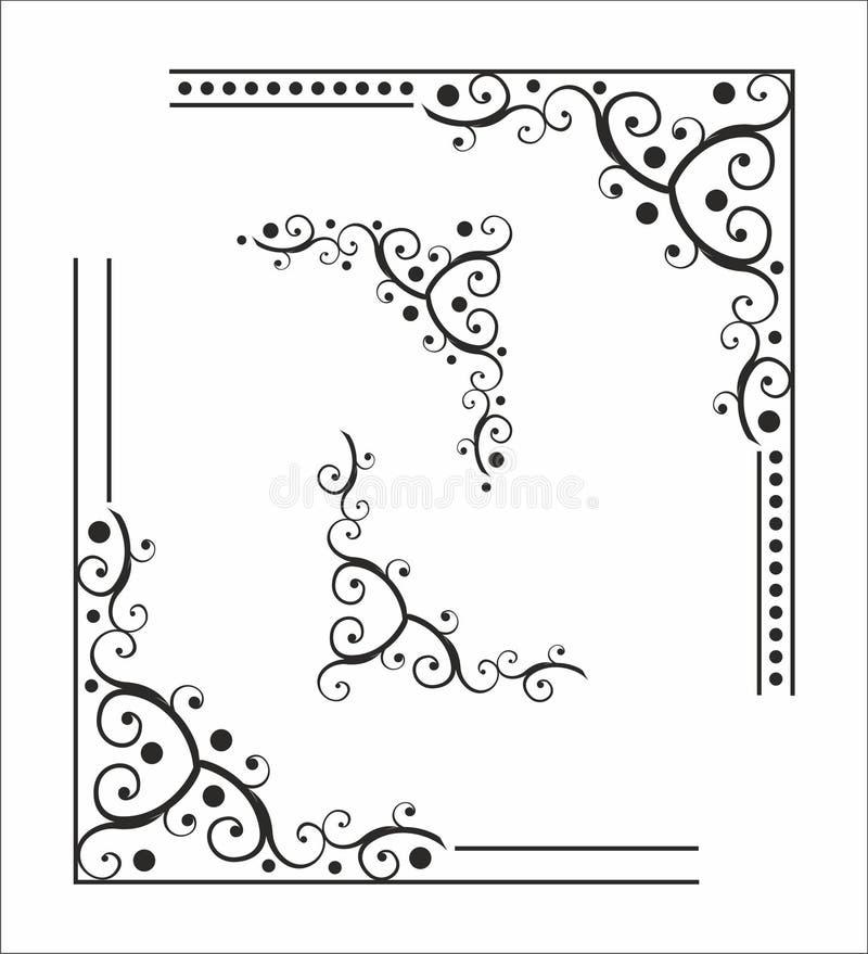 Декоративный угол для конструкции иллюстрация вектора