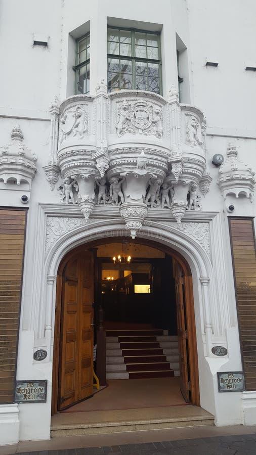 Декоративный фасад здания периода в Сиднее, NSW, Австралии стоковые изображения