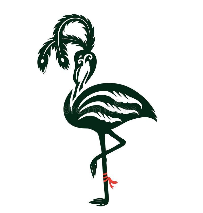 декоративный фламинго иллюстрация вектора