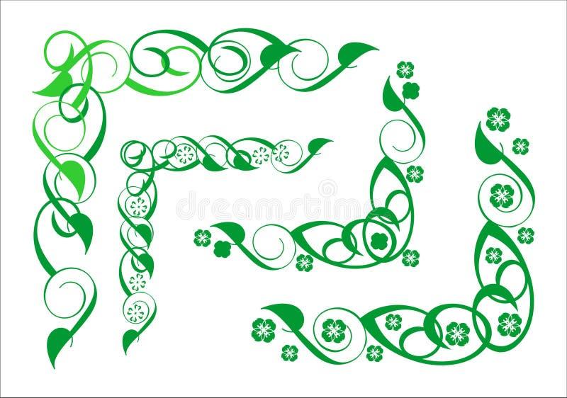 Декоративный флористический угол иллюстрация штока
