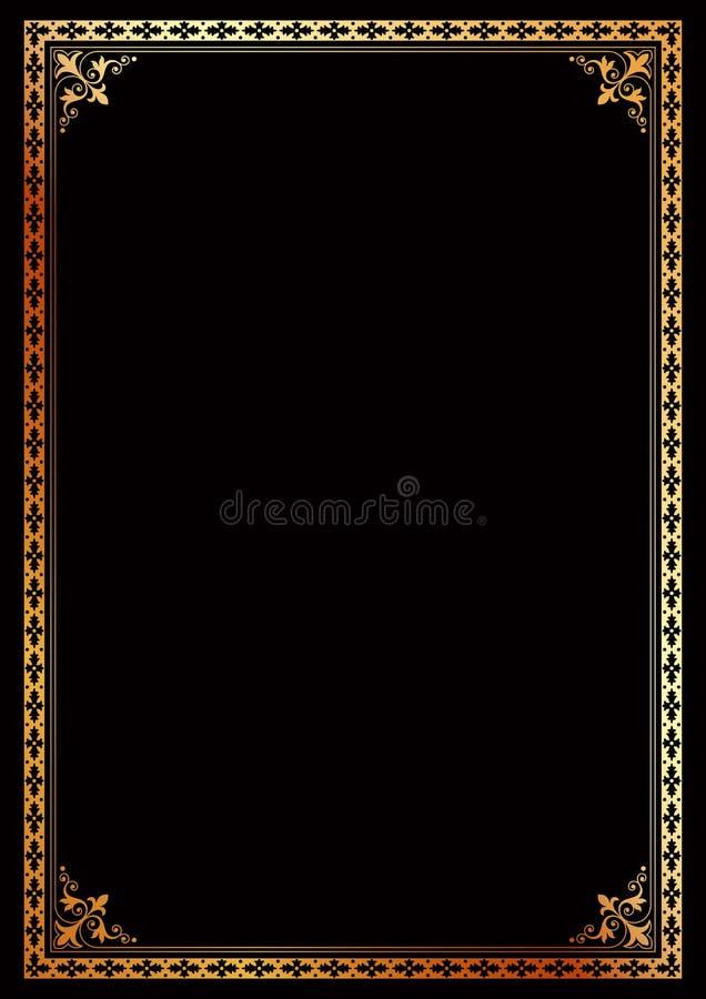 Декоративный шаблон обложки книги сертификата рамки границы иллюстрация штока