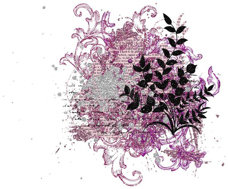 Декоративный элемент для создавать открытки дня ` s валентинки иллюстрация штока