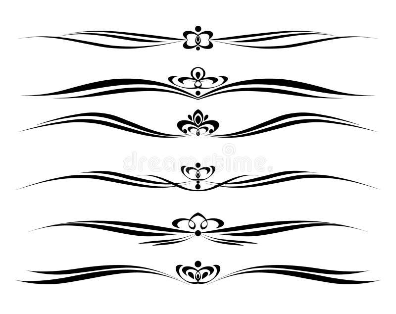 Декоративный элемент комплекта иллюстрация штока