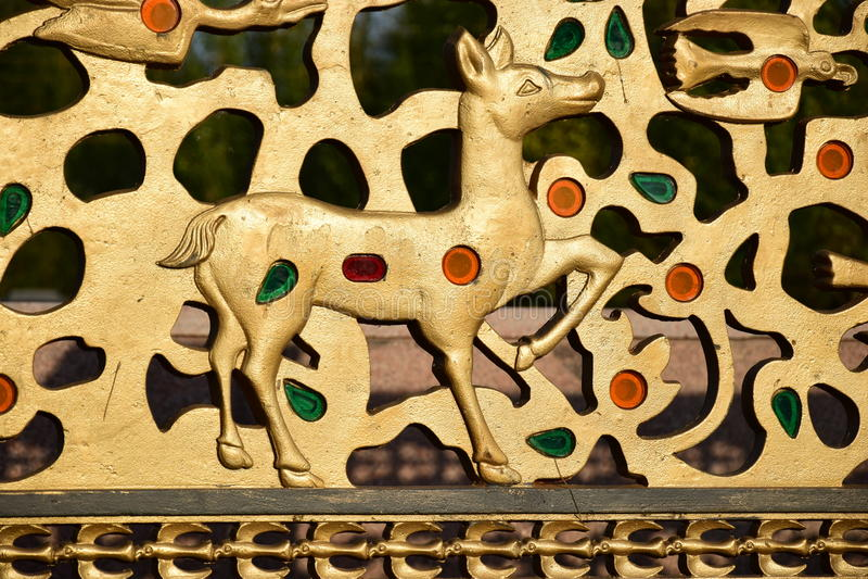 Декоративный элемент на загородке стоковое фото rf