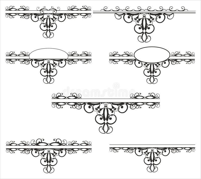 Декоративный элемент иллюстрация штока
